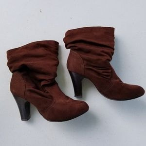 Maurices Suede Heeled Boots